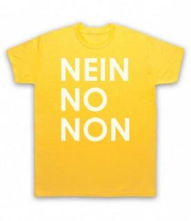 Radiohead Nein No Non As Worn By Thom Yorke T-Shirt T-Shirts