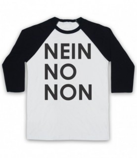 Radiohead Nein No Non As Worn By Thom Yorke Baseball Tee Baseball Tees
