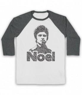 Oasis Noel Gallagher Scribbled Sketch Baseball Tee Baseball Tees