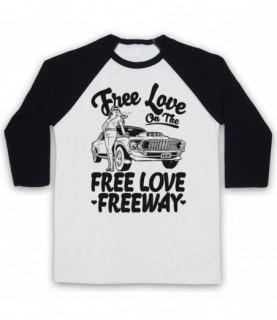 Office Free Love On The Free Love Freeway Baseball Tee Baseball Tees