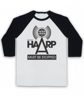 Project HAARP Must Be Stopped Conspiracy Theory Baseball Tee Baseball Tees