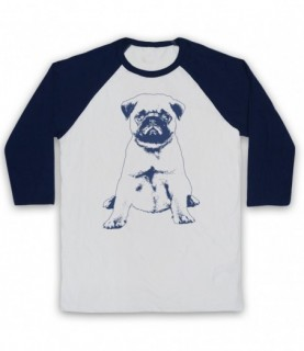 Pug Dog Cute Puppy Baseball Tee Baseball Tees