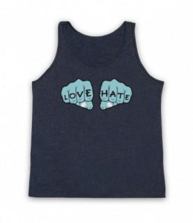 Love Hate Knuckles Tattoo Tank Top Vest Tank Top Vests