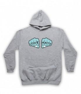 Love Hate Knuckles Tattoo Hoodie Sweatshirt Hoodies & Sweatshirts