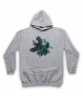 Ravens Gothic Illustration Hoodie Sweatshirt Hoodies & Sweatshirts