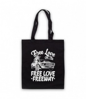 Office Free Love On The Free Love Freeway Tote Bag Tote Bags