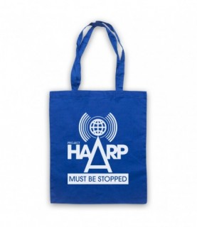 Project HAARP Must Be Stopped Conspiracy Theory Tote Bag Tote Bags
