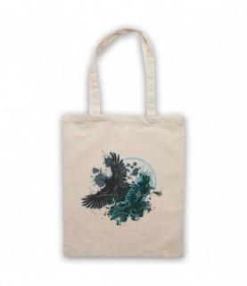 Ravens Gothic Illustration Tote Bag Tote Bags