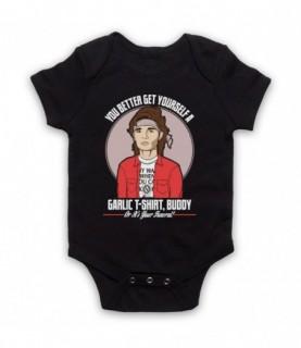 Lost Boys Edgar Frog Get Yourself A Garlic T-Shirt Buddy Baby Grow Baby Grows