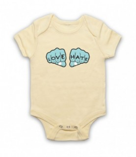 Love Hate Knuckles Tattoo Baby Grow Baby Grows