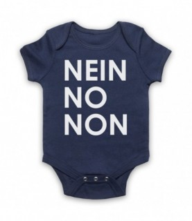 Radiohead Nein No Non As Worn By Thom Yorke Baby Grow Baby Grows