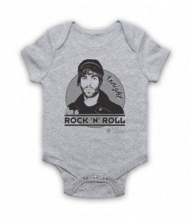 Oasis Liam Gallagher Rock N Roll Star Baby Grow Baby Grows