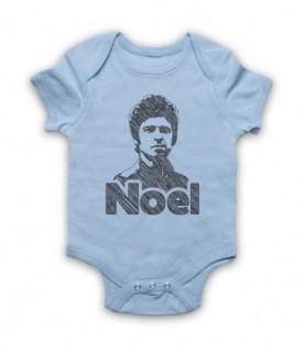 Oasis Noel Gallagher Scribbled Sketch Baby Grow Baby Grows