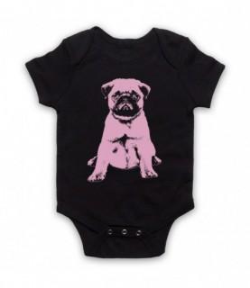 Pug Dog Cute Puppy Baby Grow Baby Grows