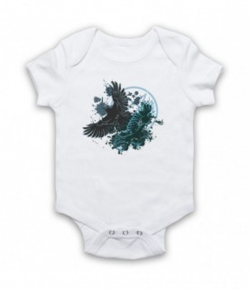 Ravens Gothic Illustration Baby Grow Baby Grows