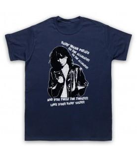 Patti Smith Land Horses Mens Navy Blue T-Shirt