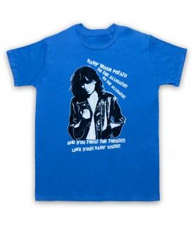 Patti Smith Land Horses Mens Royal Blue T-Shirt
