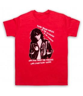 Patti Smith Land Horses Mens Red T-Shirt