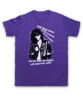 Patti Smith Land Horses Mens Purple T-Shirt