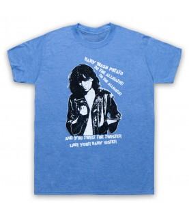 Patti Smith Land Horses Mens Heather Blue T-Shirt