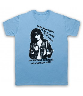 Patti Smith Land Horses Mens Sky Blue T-Shirt