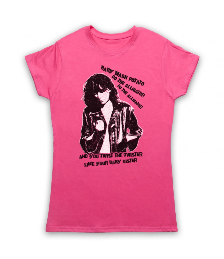 Patti Smith Land Horses Womens Pink T-Shirt