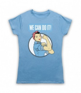 Rosie The Riveter We Can Do It World War 2 Icon T-Shirt T-Shirts
