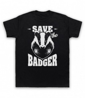 Save The Badger Animal Rights Protest Slogan T-Shirt T-Shirts