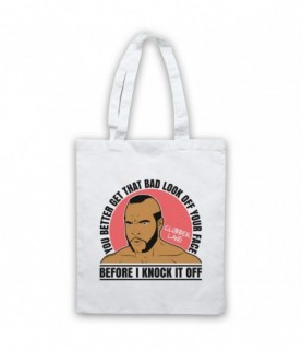 Rocky 3 Clubber Lang Get That Bad Look Off Ya Face Tote Bag Tote Bags