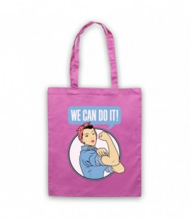 Rosie The Riveter We Can Do It World War 2 Icon Tote Bag Tote Bags