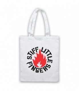 Stiff Little Fingers Flame Logo Inflammable Material Tote Bag Tote Bags