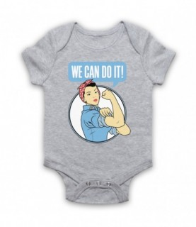 Rosie The Riveter We Can Do It World War 2 Icon Baby Grow Baby Grows