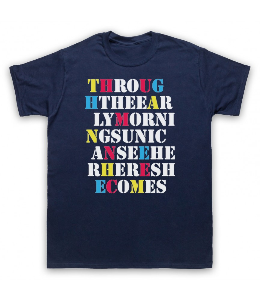 Stone Roses She Bangs The Drums Mens Navy Blue T-Shirt