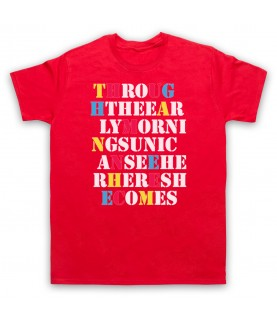 Stone Roses She Bangs The Drums Mens Red T-Shirt