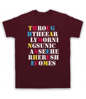 Stone Roses She Bangs The Drums Mens Maroon T-Shirt