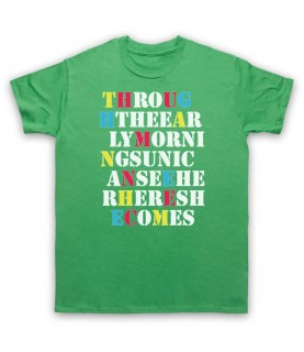 Stone Roses She Bangs The Drums Mens Green T-Shirt