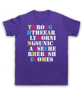 Stone Roses She Bangs The Drums Mens Purple T-Shirt