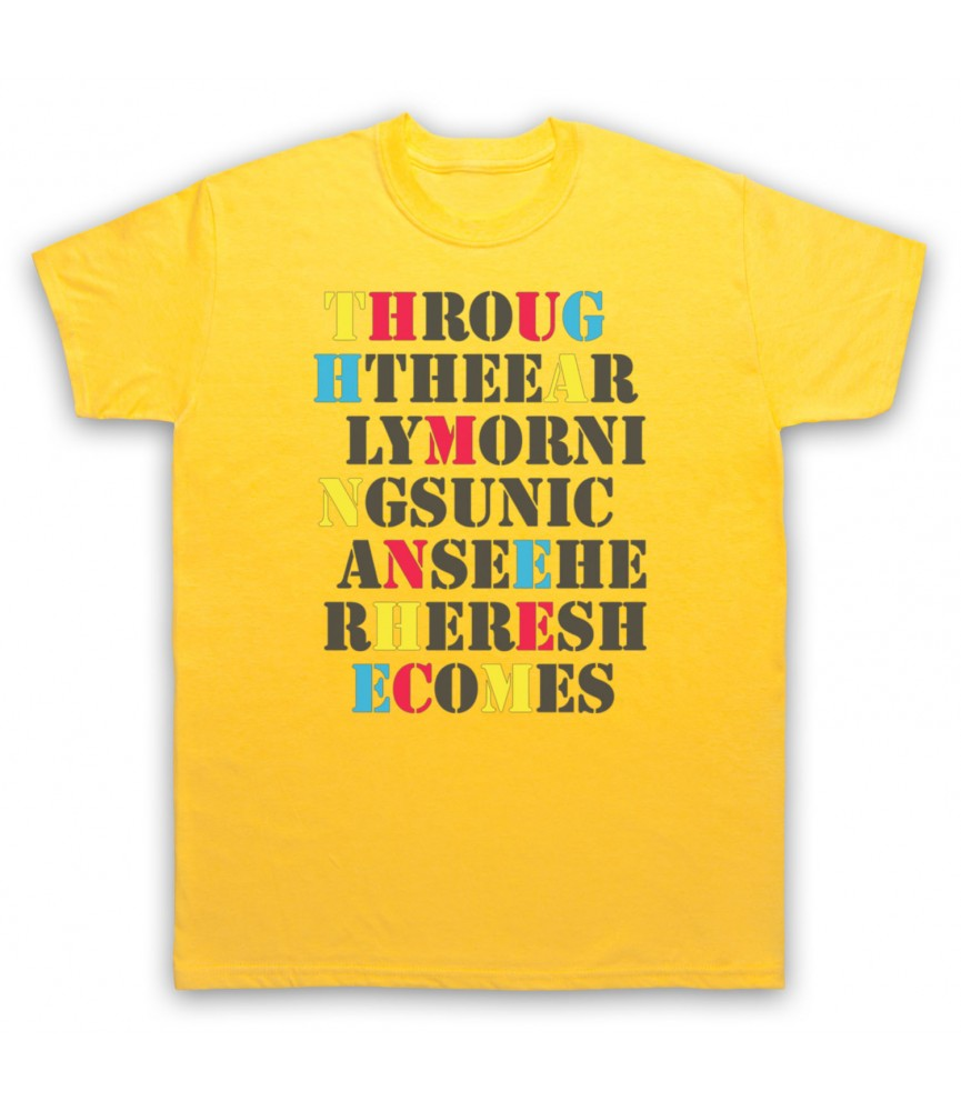 Stone Roses She Bangs The Drums Mens Yellow T-Shirt