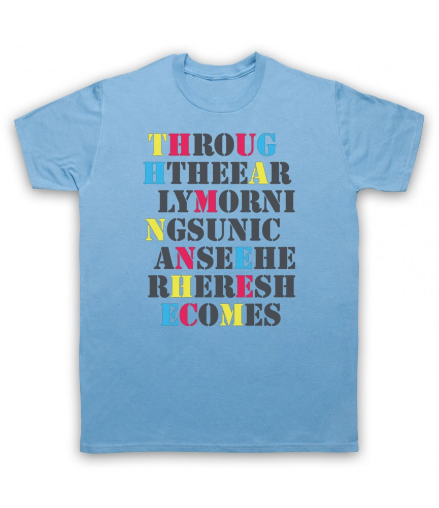 Stone Roses She Bangs The Drums Mens Sky Blue T-Shirt