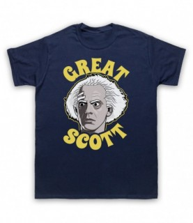 Back To The Future Doc Brown Great Scott T-Shirt T-Shirts