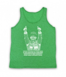 Ayrton Senna Have God On Your Side Everything Becomes Clear Tank Top Vest Tank Top Vests