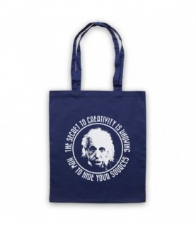 Albert Einstein Secret To Creativity Hide Your Sources Tote Bag Tote Bags