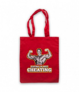Arnold Schwarzenegger Eating Is Not Cheating Tote Bag Tote Bags