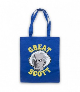 Back To The Future Doc Brown Great Scott Tote Bag Tote Bags