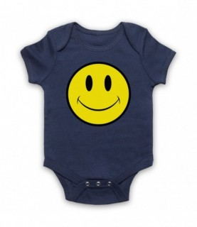Acid House Smiley Face Baby Grow Baby Grows