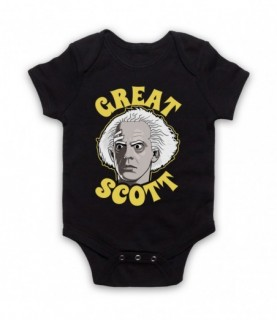 Back To The Future Doc Brown Great Scott Baby Grow Baby Grows