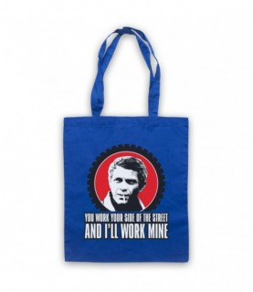 Bullitt Steve McQueen You Work Your Side Of The Street Tote Bag Tote Bags
