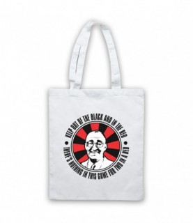 Bullseye Jim Bowen Keep Out Of The Black And In The Red Tote Bag Tote Bags