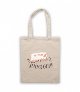Cassette Tape Awesome Text Tote Bag Tote Bags