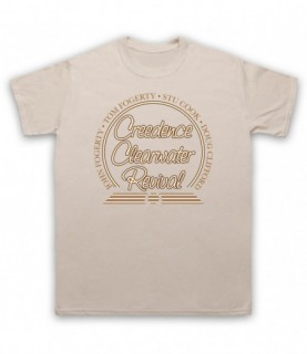 Creedence Clearwater Revival CCR Band Members Circle Logo T-Shirt T-Shirts